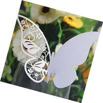 Kuke 50 Pcs Elegant Pearlescent Art Paper Material Butterfly
