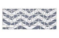 Kuzy Gray Chevron Zig-Zag Keyboard Cover for MacBook Pro 13