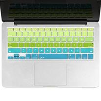 Kuzy Green/Aqua Ombre Colors Keyboard Cover Silicone Skin