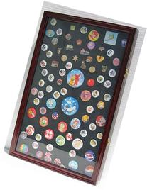 LARGE Pin Medal Display Case Shadow Box Display Case, with