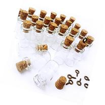 LEFV™ 25 Mini Glass Bottles 1-inch Message Treasure Charm