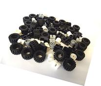 LEGO City - Wheel, Tire and Axle Set - Black, White, and