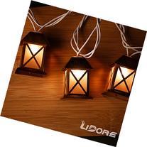 LIDORE Set of 10 Warm White Glow Bronze Metal House Shaped