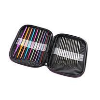 LIHAO Mixed Aluminum Handle Crochet Hooks Knitting Knit