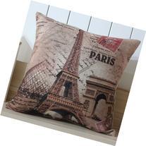 LINKWELL 45x45cm France Paris Eiffel Tower Linen Pillow Case