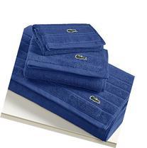 Lacoste Croc Wash Towel, One Size, Ocean
