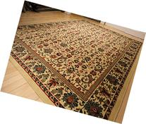 Large 8'x11' Traditional Cream Rugs Floral Area Rugs Persian