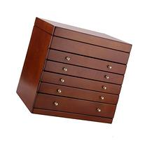 Large Wooden Jewelry Box Crate on Dresser Chest Necklace