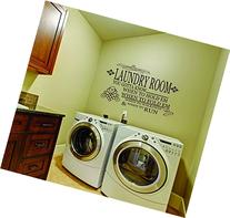 LucyLews Laundry Room Vinyl Wall Decal, 10-Inch Tall x 18-