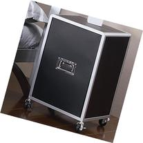 Coaster LeClair Mobile Cabinet in Black and Silver
