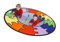 Learning Carpets Rainbow Puzzle Carpet / 6'6'' Circle