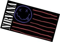 Licenses Products Nirvana Flag Sticker