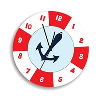 Life Saver Baby Wall Clock with Anchor, Anchor Children Wall