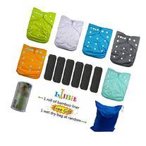 LilBit Baby Reusable Pocket Cloth Diapers, 6 pcs + 6 pcs