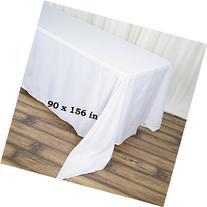 LinenTablecloth 90 x 156-Inch Rectangular Polyester