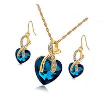 Long Way® Austrian Crystal Fashion Heart Jewelry Sets