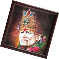 Lord Sai Baba Poster Painting with Framing
