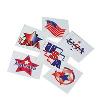 Assorted Patriotic Design Temporary Tattoos