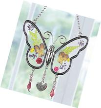 Love Butterfly Suncatcher with Real Pressed Flower Wings in