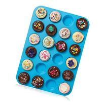 Lucentee Large Mini Muffin Pans - Top Non Stick Bakeware for