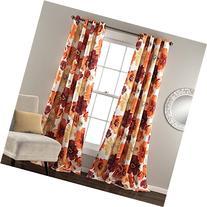 Lush Decor Leah Curtain, Panel Pair 52 x 84, Red/Orange