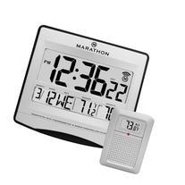 MARATHON CL030027 Atomic Wall Clock with 8 Timezones, Indoor
