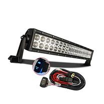 "MICTUNING 22"" 120W 3B139C Curved LED Work Light Bar Combo"