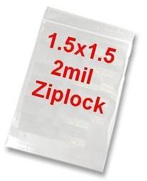 MINI ZIP LOCK BAGS 1 1/2 1000 BAGS