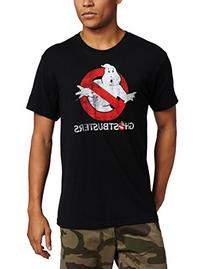 Mad Engine Ghostbusters Men's Logo To Go T-Shirt, Black,
