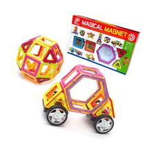 Magnetic Tile Building Set - 40 Piece Kit with Wheels,
