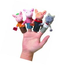 Manhattan Toy Storytime Three Little Pigs Finger Puppet Set