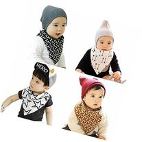 Marca west 4-Pack Unisex Bandana Drool Bibs Scarf Triangle
