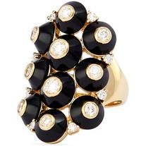 Maria Canale for Forevermark 18k Pyramide Onyx & Diamond