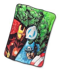 "Disney Marvel Avengers Plush Throw - Measures 50"" x 60"""