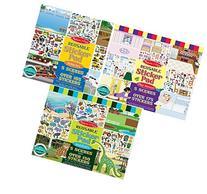 Melissa and Doug Reusable Sticker Pads- Habitats, Vehicles,