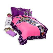 MeMoreCool 3pc Colorful Giraffe Girly Twin Bedding Set