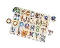 Melissa & Doug Alphabet Art Wooden Puzzle