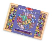 Melissa & Doug Butterfly Friends Wooden Bead Set With 150+