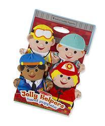 Melissa & Doug Jolly Helpers Hand Puppets  - Construction