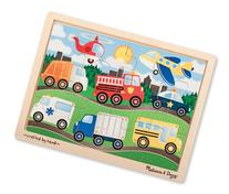 Melissa & Doug On The Road Wooden Jigsaw Puzzle With Storage
