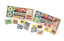 Melissa & Doug Self-Correcting Letter and Number Wooden