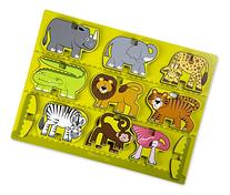 Melissa & Doug Safari Animals Wooden Chunky Puzzle and