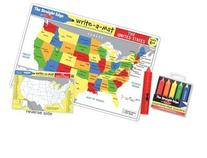 Melissa & Doug USA Map Learning Place Mat with Wipe-Off