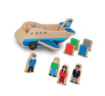 Melissa & Doug Wooden Airplane Play Set With 4 Play Figures