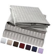 Mellanni Striped Bed Sheet Set - Brushed Microfiber 1800