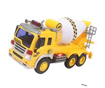 Memtes Friction Powered Cement Mixer Truck Toy with Lights