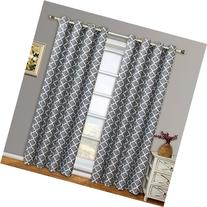 Meridian Gray Grommet Room Darkening Window Curtain Panels,