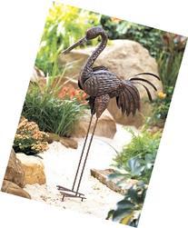 Metal Crane Bird Lawn Art