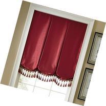 """Milan Balloon Roman Window Shade Brown Clay 34""""W x 64""""L"""