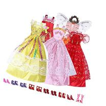 Mix Style Handmade Gorgeous Barbie Doll Party Clothes Dress
